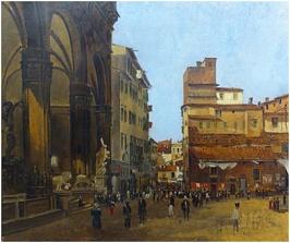 Telemaco Signorini - Piazza Signoria