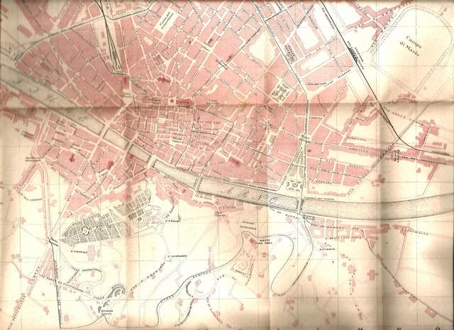 Mappa di Firenze nel 1906