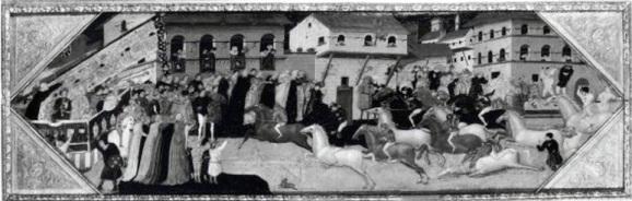 La corsa dei bàrberi nella Firenze del XV secolo