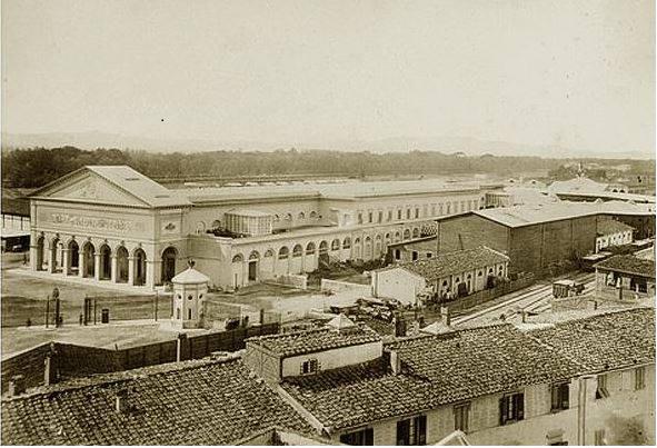 Stazione Leopolda 1861, vista lato ponte alle Mosse