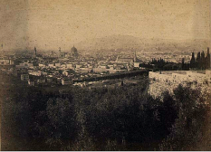 panorama di Firenze nel 1870 su carta all'albumina