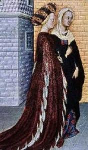 Dama fiorentina del XV secolo riccamente abbigliata