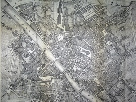 Pianta di firenze - Map of Florence 1864
