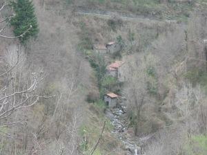 Uno scorcio della valle sottostante