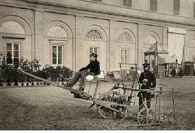 1861, Esposizione Italiana alla Leopolda, prova della mietitrice