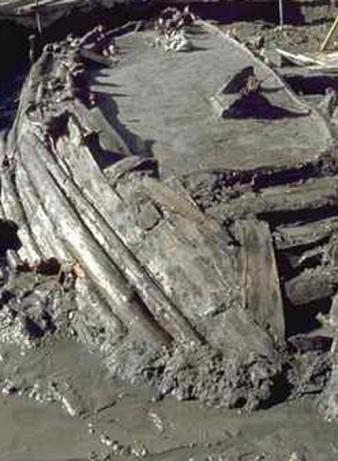 Una delle antiche navi romane