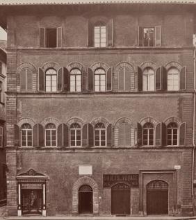 Palazzo Buondelmonti in una foto d'epoca.
