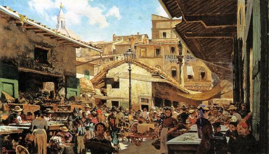 Telemaco Signorini - Mercato Vecchio