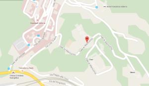 Mappa dell'ex manicomio di Volterra.  Fonte: google maps.