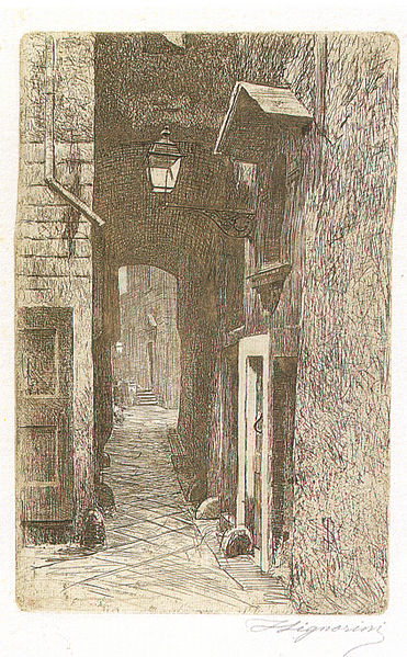 Telemaco_Signorini_acquaforte,_Via_de'_Cavalieri,_1874