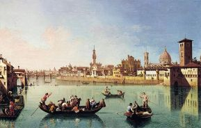 Giuseppe Zocchi, Barconi sull'Arno