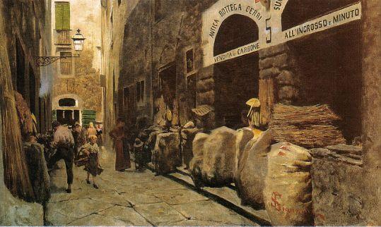 800px-Telemaco_Signorini,_La_Via_del_fuoco,_1881_mercato vecchio