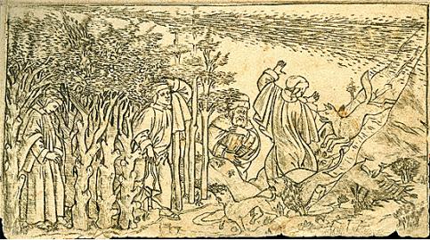 Botticelli, illustrazione per il primo canto dell'Inferno