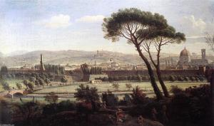 Vanvitelli Firenze dalla via Bolognese 1695 (Foto originale)