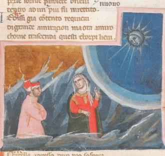 Dante e Beatrice. Codice Egerton, metà sec. XIV, Londra, British Library