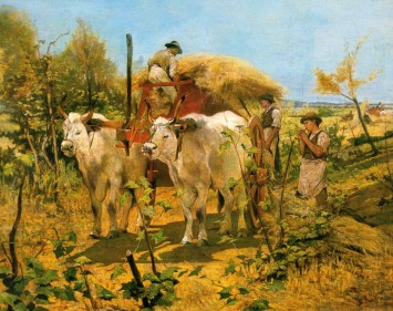 Fattori, Maremma la raccolta del fieno