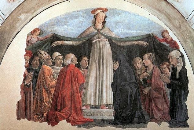 Ghirlandaio, Madonna della Misericordia, cappella Vespucci nella chiesa di Ognissanti