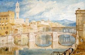 W. Turner Veduta di Firenze dal Ponte a Santa Trinita, 1818 circa (Foto originale)