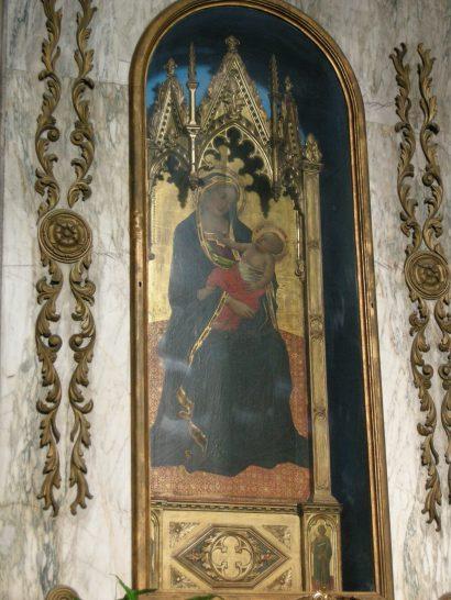 Pescia,_chiesa_di_veneri,_interno,_Angelo_Puccinelli,_madonna_col_bambino_01