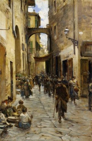 Signorini_Telemaco_Il_Ghetto_di_Firenze_oilonpanel-large