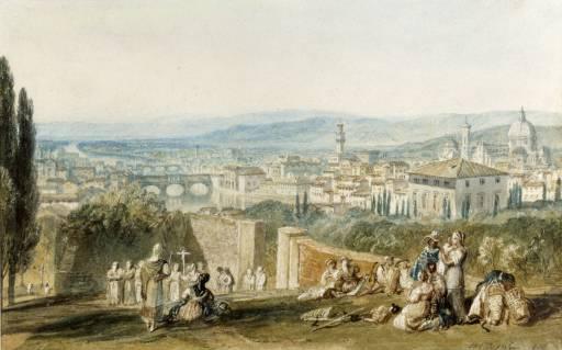 W.Turner Firenze da Monte alle Croci 1818, collezione privata (Foto originale)