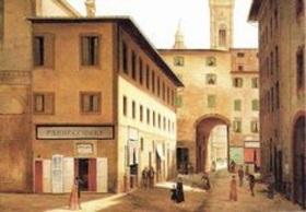 Fabio Borbottoni, l'arco dei Pecori da via dell'Arcivescovato