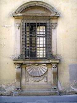 Firenze, Casino mediceo di San Marco, particolare, la finestra