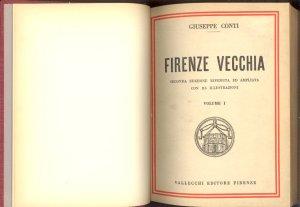Giuseppe Conti Firenze vecchia, frontespizio delle'edizione Vallecchi del 1928