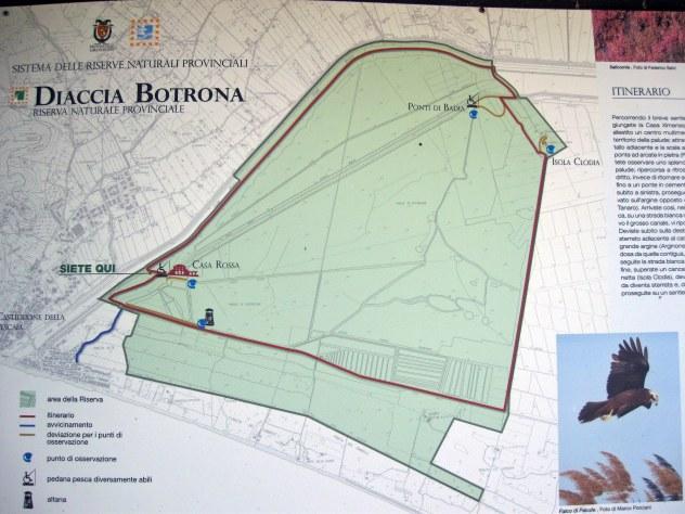 Mappa della Diaccia Botrona