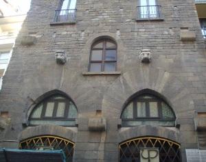 La torre degli Amidei, particolare della facciata