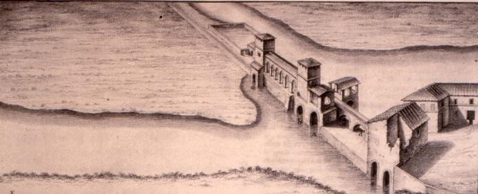 Ponte a Cappiano in un disegno del XVIII secolo