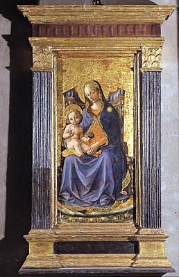 Cetica San Michele Arcangelo, Madonna col Bambino del Pesellino