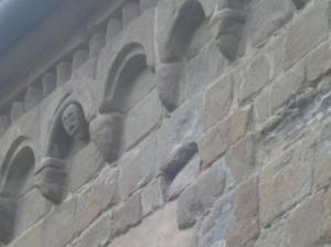 Badia di Santa Maria, particolare dele decorazioni dell sottotetto