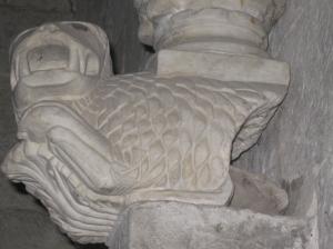 Sant'Agata, il leone ai piedi della statuetta, particolare