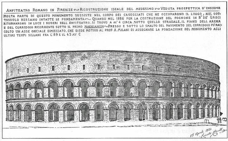 Anfiteatro romano situato fra piazza Peruzzi, via dei Benci, via Torta e via Bentaccordi