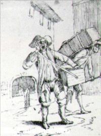 Mitelli, Venditore ambulante
