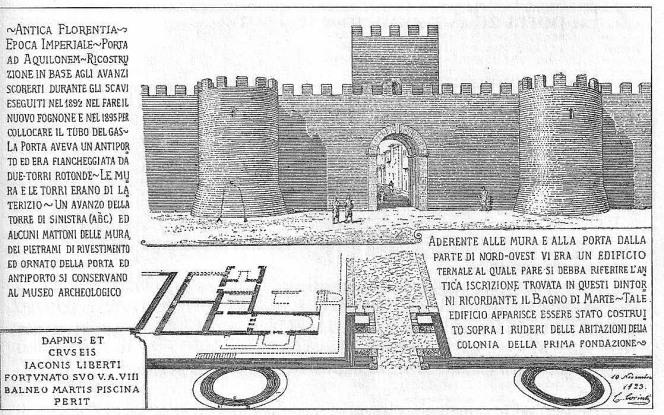 Situata sul lato nor-ovest delle mura