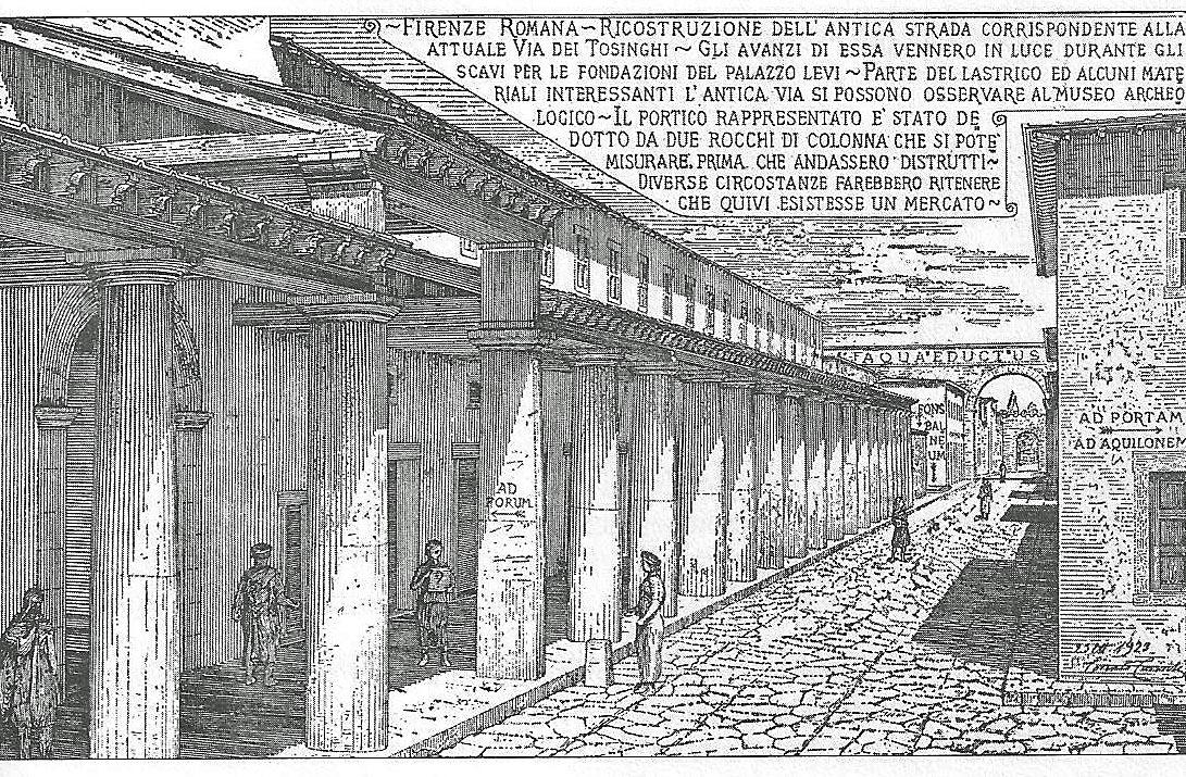 Firenze antica nelle cartoline di corinto corinti epoca for Firenze medievale