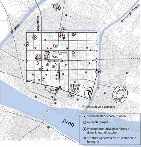 Pianta della Firenze romana