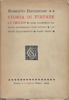 Robert Davidshon, Storia di Firenze, prima edizione italiana del 1907