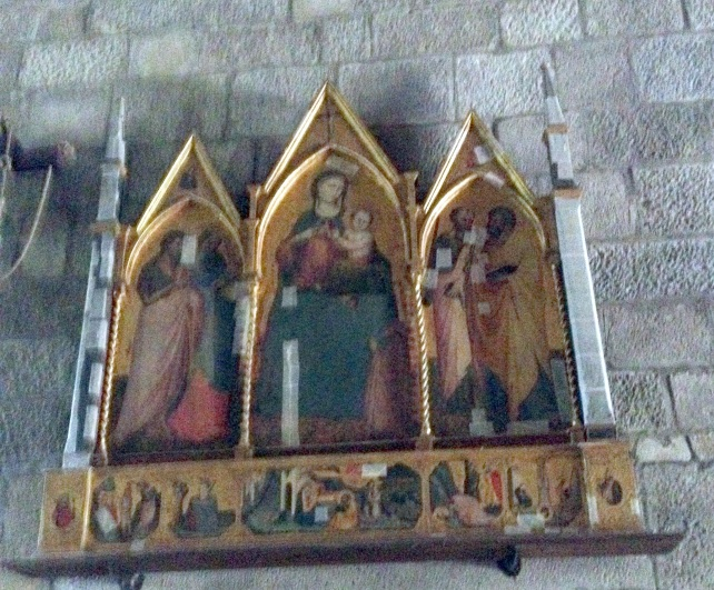 Cetica, San Michele Arcangelo, Trittico di Bicci di Lorenzo