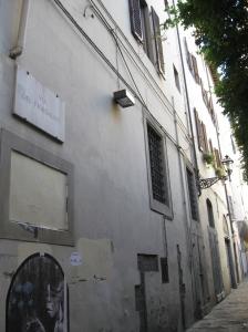 Via del Fiordaliso attigua al giardino di palazzo Borgherini oggi del Turco