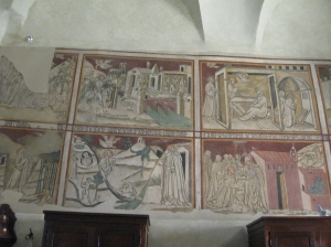 Gli affreschi nella sagrestia
