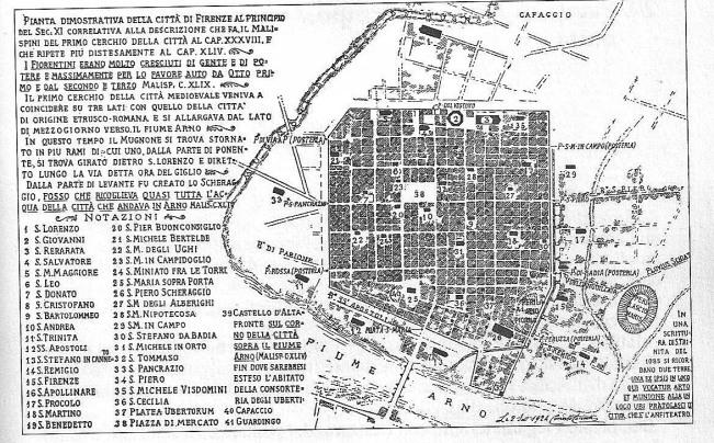 Corinto Corinti Le 36 chiese di Firenze nell'anno 1000