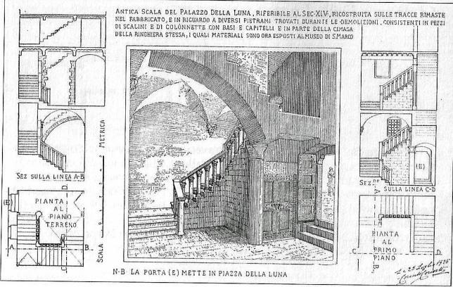 Corinto Corinti La scalinata del palazzo dei della Luna