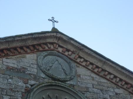 Pieve di San Cresci a macioli, particolare della facciata