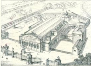 Stazione Leopolda sede della prima mostra nazionale. Pianta della mostra