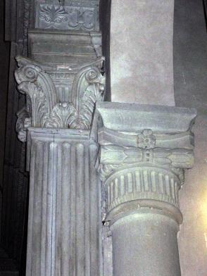San Cresci a Macioli interno, particolare dei capitelli e delle colonne scannellate