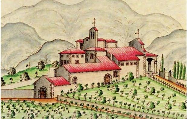 La Fattoria di San Leolino Panzano nel Chianti, raffigurata in un cabreo del 1717 di Stefano Zocchi