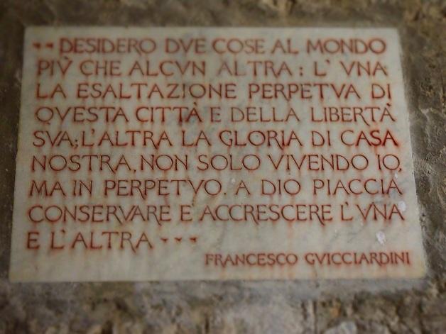 Poppiano lastra con dedica di Francesco Guicciardini